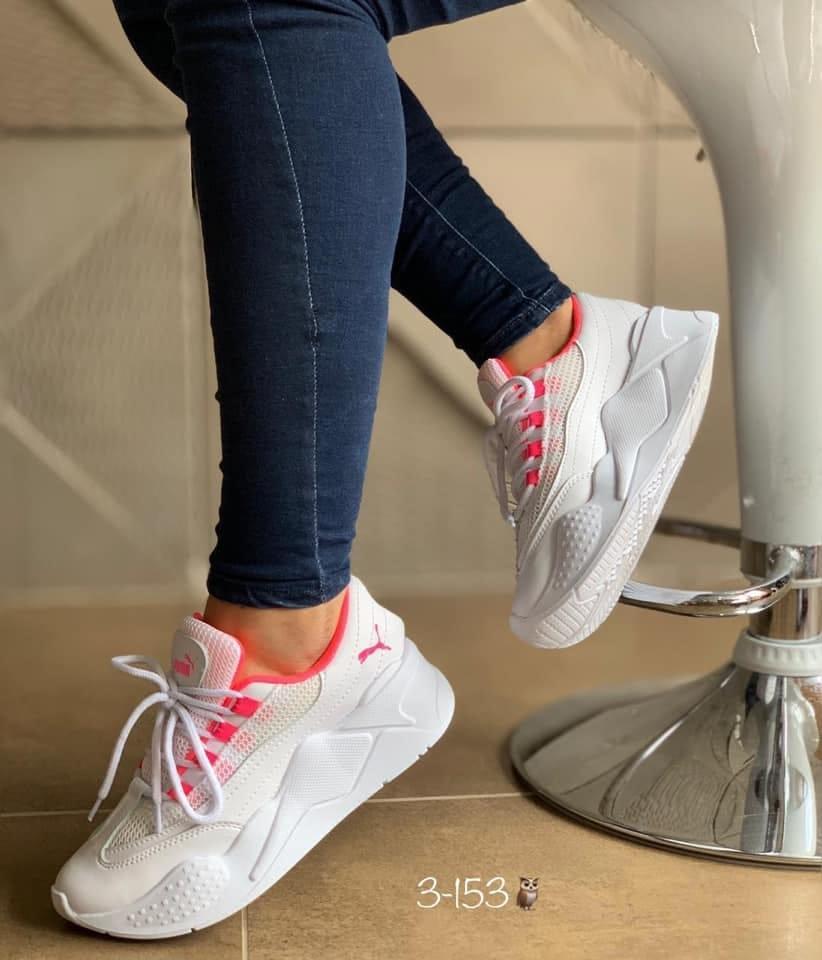 Zapatillas para damas blanco