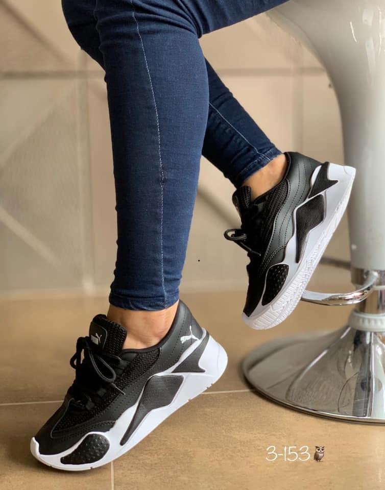 Zapatillas para damas negro