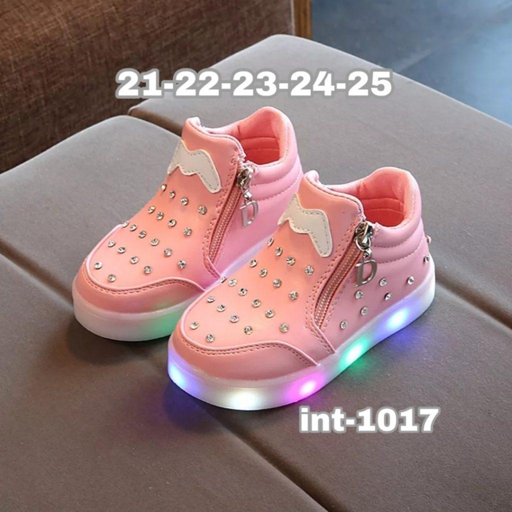 Zapatillas con cierre y luces niñas 1