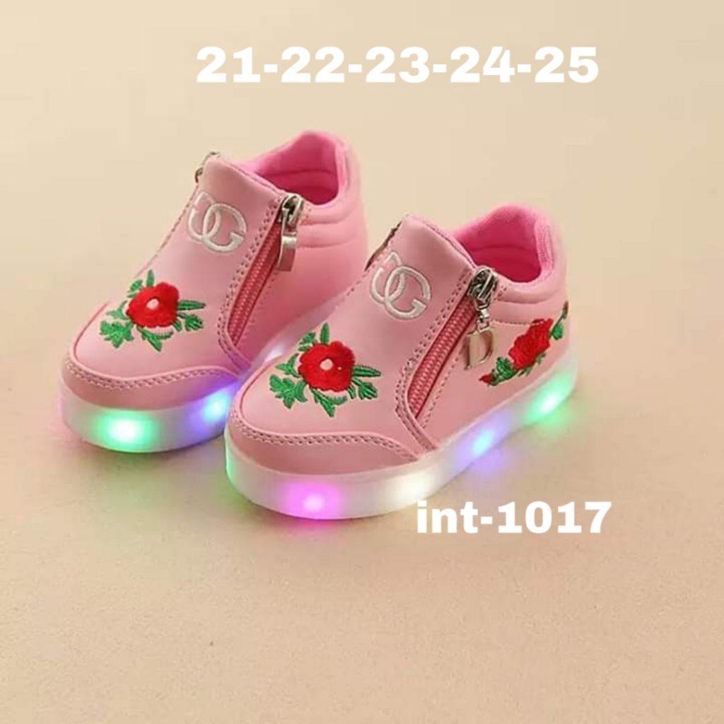 Zapatillas con cierre y luces niñas 4
