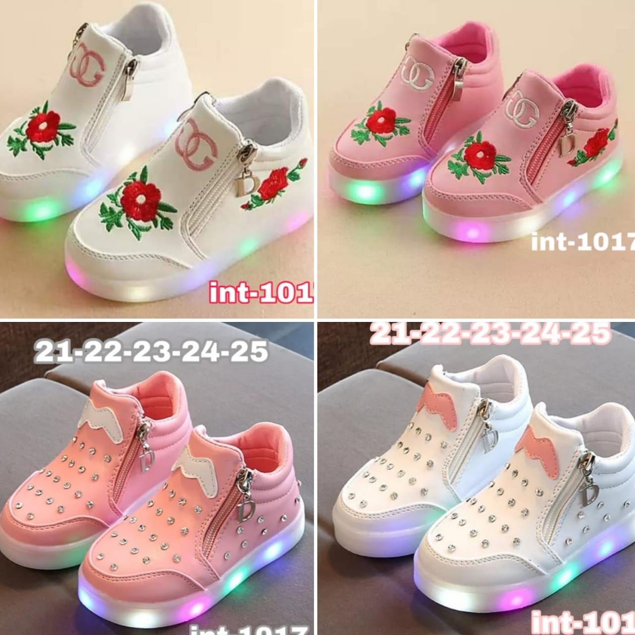 Zapatillas con cierre y luces niñas