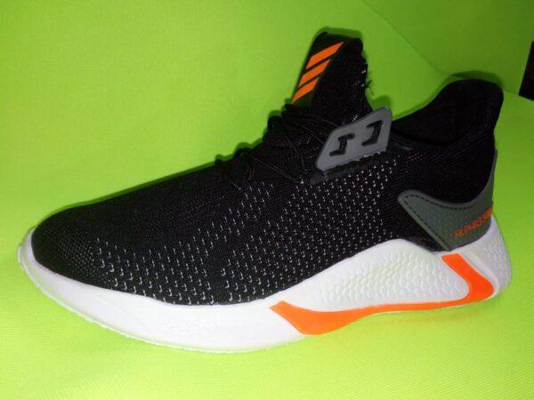 Adidas Runner plomo con naranja