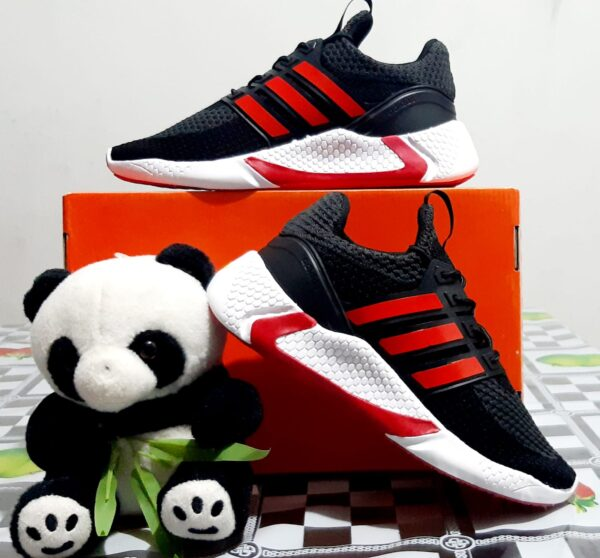 Zapatillas Ads Run Negro con Rojo