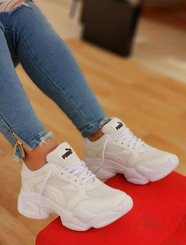 zapatillas pm damas blanco