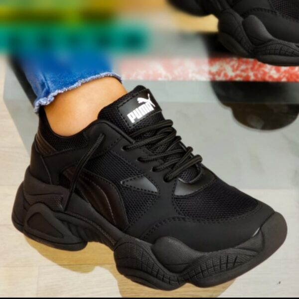 zapatillas pm damas negro