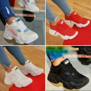 zapatillas pm damas rojo variados
